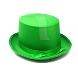 Satin Top Hat - Green