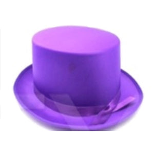 Satin Top Hat Purple
