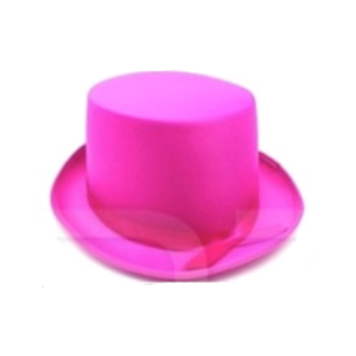 Satin Top Hat - Hot Pink