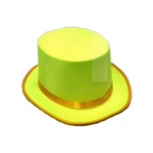 Satin Top Hat - Yellow