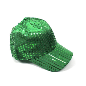 Sequin Baseball Cap Green