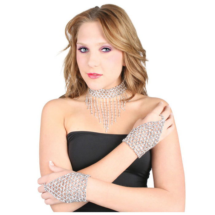 Show Girl Beaded Chocker & Glove Set