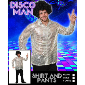 Silver Disco Man With Flares