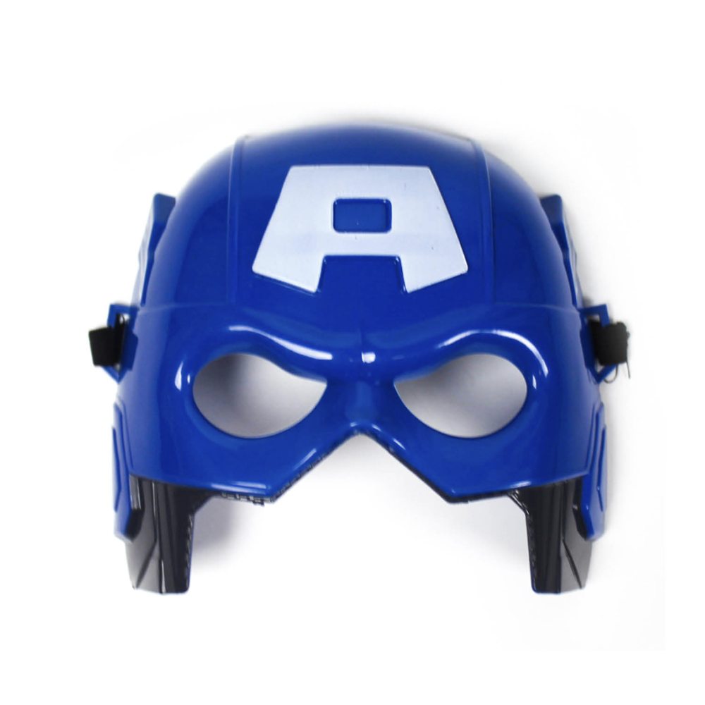 Superhero Plastic Mask Blue America