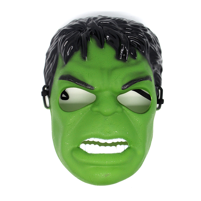 Superhero Plastic Mask Green Hulk