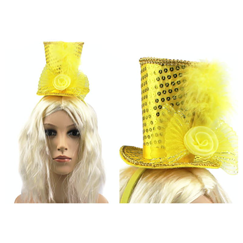 Mini Top Hat Headband Yellow