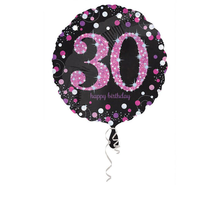 Holographic Pink Celebration 30 Balloon