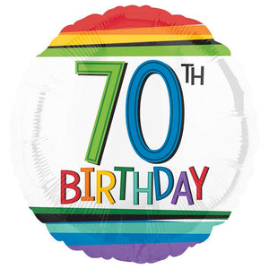 Rainbow Birthday 70 Balloon