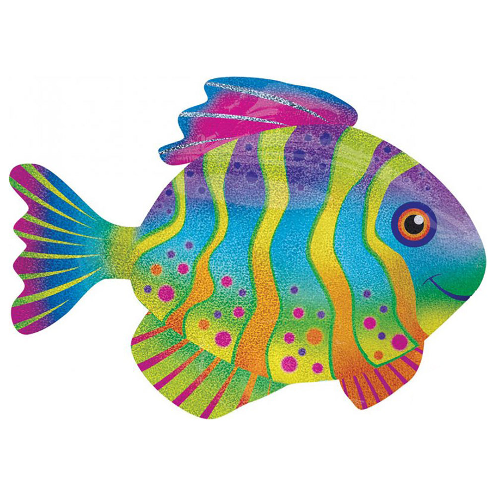 Holographic Supershape Colourful Fish Balloon