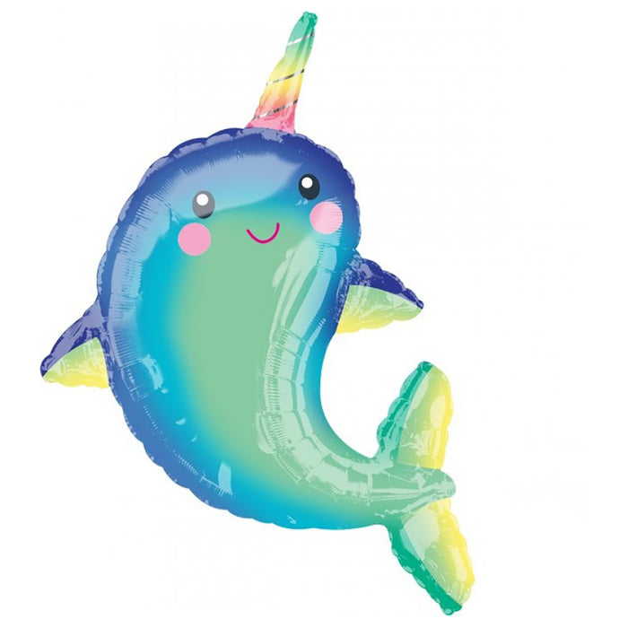 Supershape XL Happy Narwhal Balloon