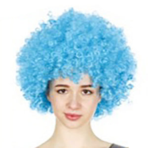 Afro Wig - Light Blue