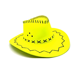 Fluro Cowboy Hat - Yellow