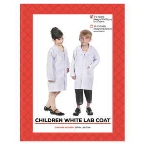 Child White Lab Coat Costume