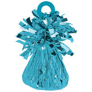 Small Foil Balloon Weight - Caribbean Blue