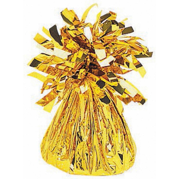 Small Foil Balloon Weight - Gold