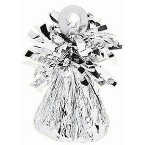 Small Foil Balloon Weight - Silver