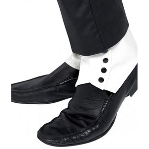 Spats White and Black Buttons