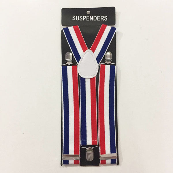 Suspenders - Red, White and Blue