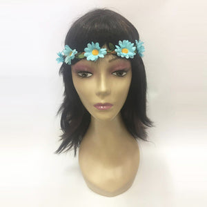 Blue Floral Hippie Headband