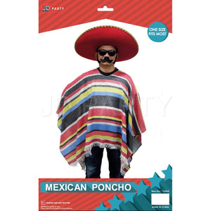 Mexican Poncho red/yellow