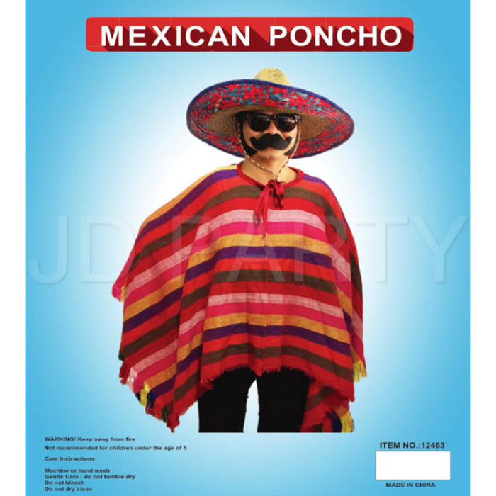 Mexican Poncho pink/orange