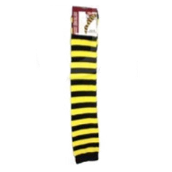 Over The Knee Socks - Yellow and Black Stripe