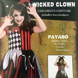 Wicked Clown Kids Costume