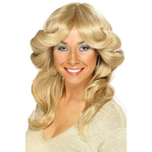 Long Blonde 70s Flick Wig