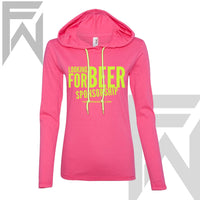 Beer Sponsorship Pink Pull Over (W)