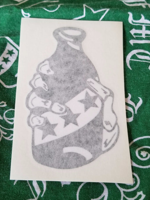 HAND AND BOTTLE STICKER (small)