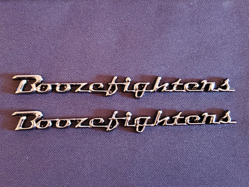 Boozefighter Fender Emblems, Black Chrome