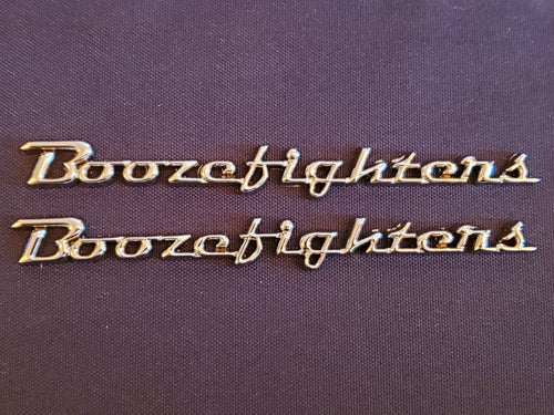 Boozefighter Fender Emblems, Chrome
