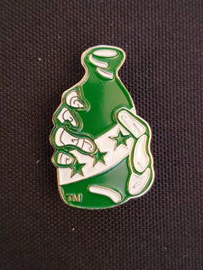 HAND AND BOTTLE PIN