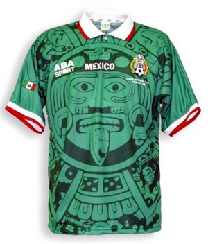 Mexico 1998 Home Men Soccer Retro Jersey