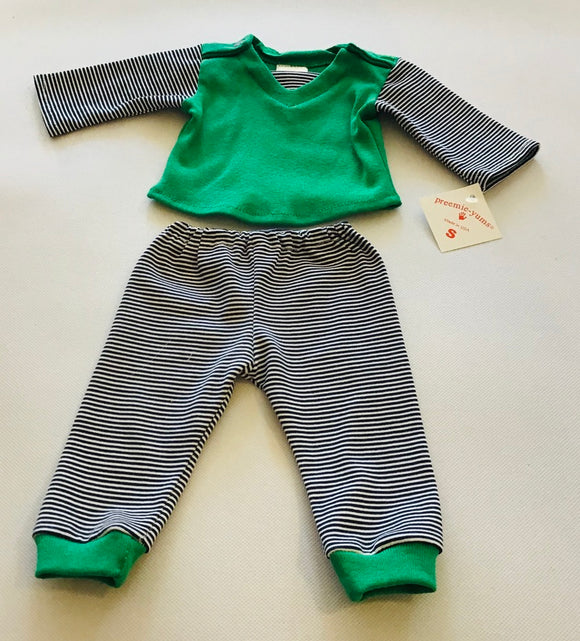 Preemie-Yums 2pc Stripe Set