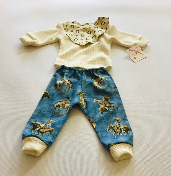 Preemie-Yums 3pc Cowboy Set