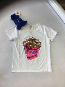 "Lola and the Boys ""French Fries"" Sequin Tee"