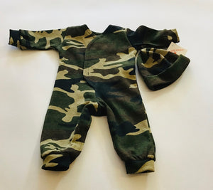 Preemie-Yums Camo Romper and Hat