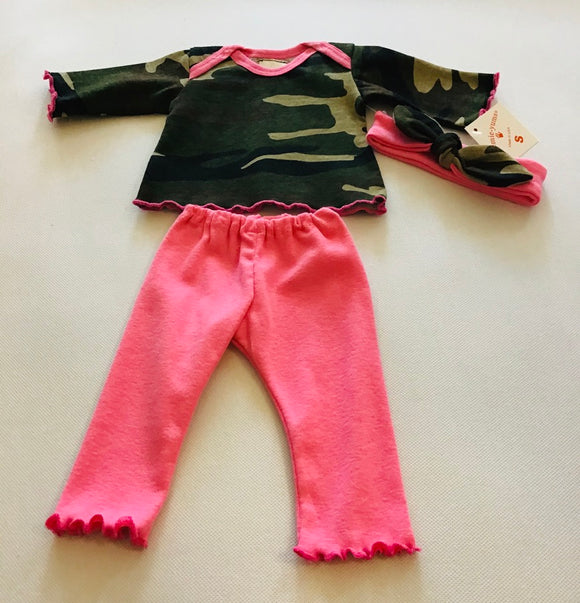 Preemie-Yums 3pc Pink Camo set