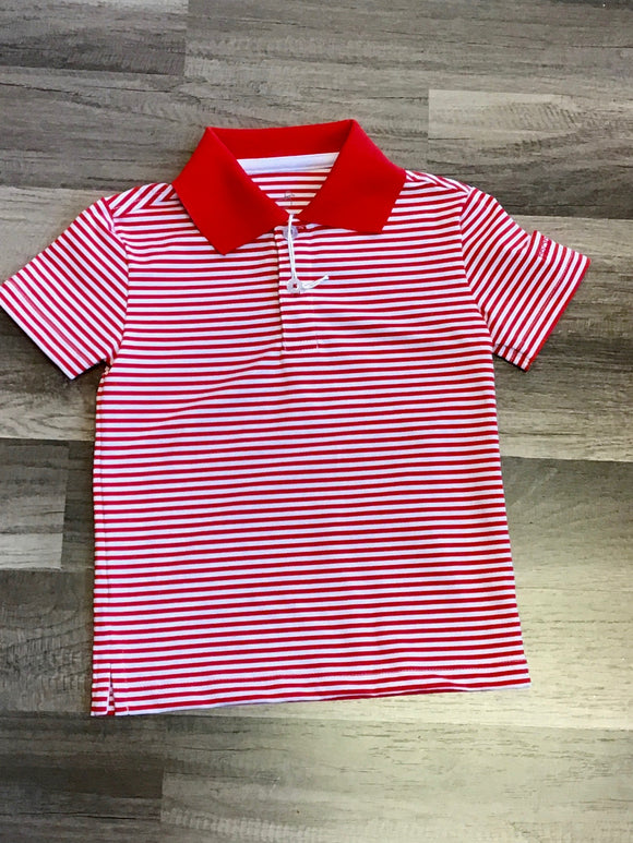 Properly Tied Game Day Polo Red