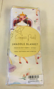 "Copper Pearl Swaddle Blanket ""Enchanted"""