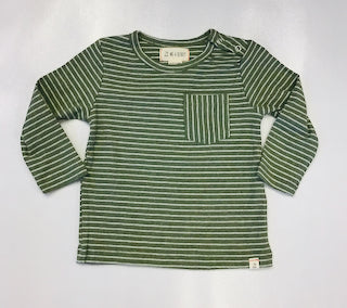 Me and Henry Green Stripe Pullover