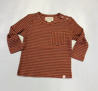 Me and Henry Rust Stripe Pullover