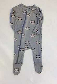 Bestaroo Romper Footie - Raccoon Gray