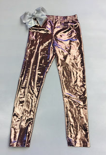 Hannan Banana Metallic Leggings Rose Gold