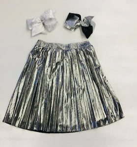 Mini Molly Pleated Skirt Silver