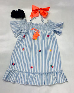 Baby Sara Off Shoulder Chambray Dress