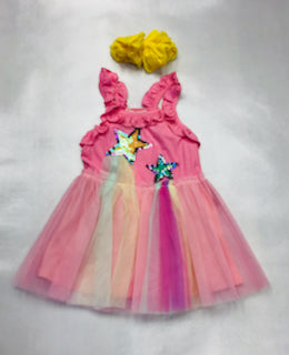 Baby Sara Shooting Star Themed Tutu Dress