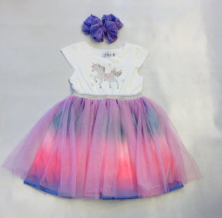 Lola and the Boys Crystal Unicorn Tutu Dress