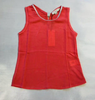 Mini Molly Silver Collared Tank Coral